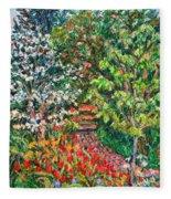 Peggys Garden Fleece Blanket