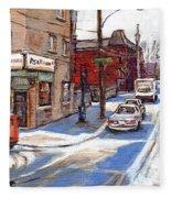 Peintures De Montreal Paintings Petits Formats A Vendre Restaurant Machiavelli Best Original Art   Fleece Blanket