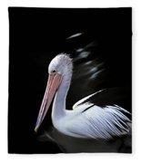 Pelican At Dusk Fleece Blanket