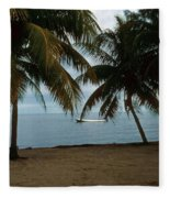 Pelican Beach Belize Fleece Blanket