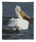 Pelican Cut Out Fleece Blanket