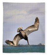 Pelican Diving For Dinner Fleece Blanket