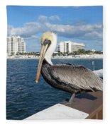 Pelican -florida Fleece Blanket