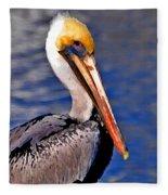 Pelican Head Shot Fleece Blanket