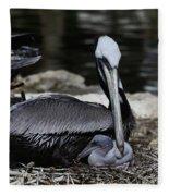 Pelican Hug Fleece Blanket