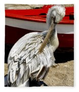 Pelican In Mykonos II Fleece Blanket