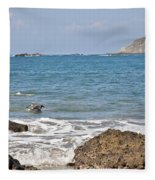 Pelican In The Water Fleece Blanket