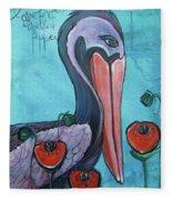 Pelican Poppies 1 Fleece Blanket