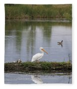 Pelican Reflection Fleece Blanket