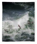 Pelicans And Surf Fleece Blanket