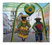 Pelourinho - Historic Center Of Salvador Bahia Fleece Blanket