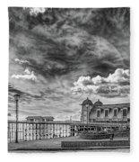 Penarth Pier Morning Light 1 Mono Fleece Blanket