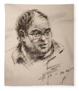 Sketch Man 8 Fleece Blanket