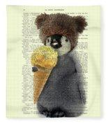 Penguin Ice Cream Fleece Blanket