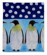 Penguins Talking Fleece Blanket