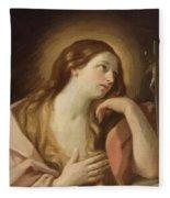 Penitent Mary Magdalene Fleece Blanket