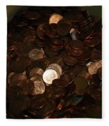 Pennies Fleece Blanket