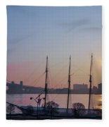 Penns Landing Sunrise Fleece Blanket