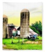 Pennsylvania Farming  Fleece Blanket