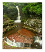 Pennsylvania Red Rock Falls Fleece Blanket