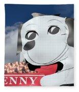 Penny Dog Food Sign 3 Fleece Blanket