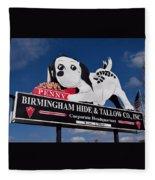 Penny Dog Food Sign 1 Fleece Blanket