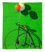 Penny Farthing Bike Fleece Blanket