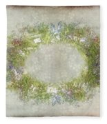 Penny Postcard Rustic Fleece Blanket