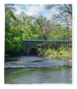 Pennypack Creek Bridge Built 1697 Fleece Blanket