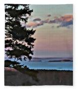 Penobscot Bay At Dusk Fleece Blanket