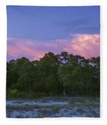 Pensacola Lighthouse Dusk Fleece Blanket
