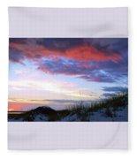 Pensacola Sunset After The Storm Fleece Blanket