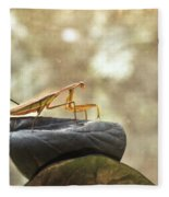 Pensive Mantis Fleece Blanket