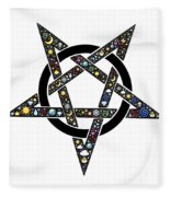 Pentacle Fleece Blanket