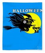 Pentacle Halloween Witch Fleece Blanket