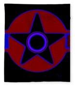 Pentagram In Red Fleece Blanket