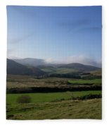 Pentlands With Clouds And Some Sun. Fleece Blanket