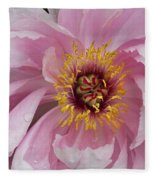 Peonie In Pink Fleece Blanket