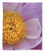 Peonie Yellow Center Fleece Blanket