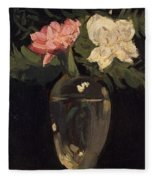 Peonies 1905, By Samuel John Peploe Fleece Blanket