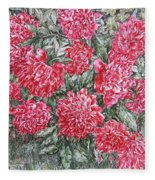Peonies Love Fleece Blanket