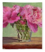 Peonies In Tumbler Fleece Blanket