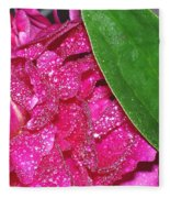 Peony And Leaf Fleece Blanket