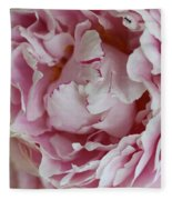 Peony Close Up Fleece Blanket
