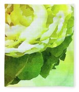 Peony In Bloom Fleece Blanket