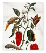 Pepper Plant Fleece Blanket