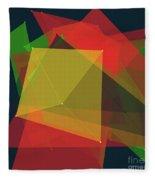 Pepper Polygon Pattern Fleece Blanket