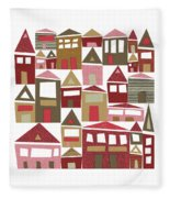 Peppermint Village Fleece Blanket