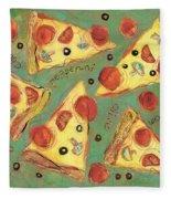 Pepperoni Pizza Fleece Blanket