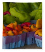 Peppers At The Produce Market Fleece Blanket